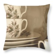 China Place Settings Throw Pillow