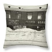 China Railroad, 1918 Throw Pillow