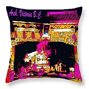 China Town Arch Victoria British Columbia Canada Throw Pillow