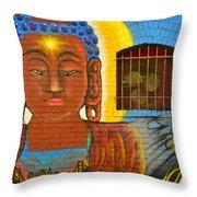 China Town Art Throw Pillow