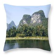 China Yangshuo County Li River  Throw Pillow