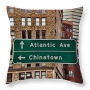 Chinatown Boston Throw Pillow