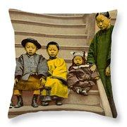 Chinatown Family Throw Pillow