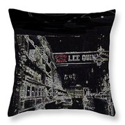 Chinatown Homage Tucson Arizona Circa 1885 1885-2009 Throw Pillow