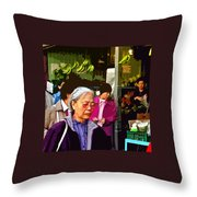 Chinatown Marketplace Throw Pillow