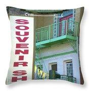 Chinatown Souvenir Shop Throw Pillow