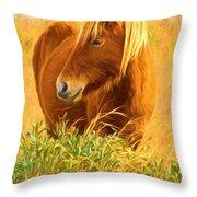 Chincoteague Pony Profile Throw Pillow