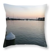 Chincoteague Sound In The Eveninglight Throw Pillow