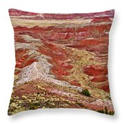 Chinde Point In Painted Desert In Petrified Forest National Park-arizona Throw Pillow
