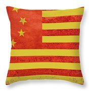 Chinese American Flag Throw Pillow