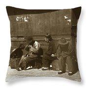 Chinese Cobbler San Francisco California Chinatown Circa 1900 Throw Pillow
