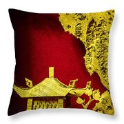 Chinese Cork Carving 2 Throw Pillow