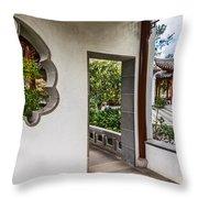 Chinese Courtyard Throw Pillow