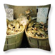 Chinese Crabs For Sale Throw Pillow