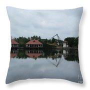 Chinese Fishing Net In Kerala Throw Pillow