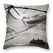 Chinese Fishing Net Throw Pillow