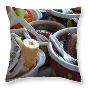 Chinese Food Miniatures 3 Throw Pillow