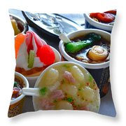 Chinese Food Miniatures 4 Throw Pillow