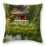 Chinese Garden Breeze Throw Pillow