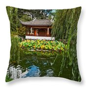 Chinese Garden Dream Throw Pillow