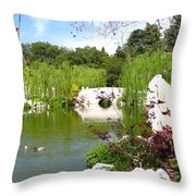 Chinese Gardens Throw Pillow by Bedros Awak