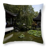 Chinese Gardens The Huntington Library Throw Pillow