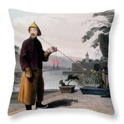 Chinese Gentleman, From A Picturesque Throw Pillow