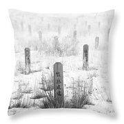 Chinese Grave Markers Throw Pillow