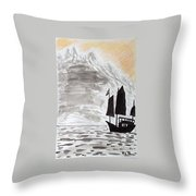 Chinese Junk Throw Pillow
