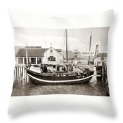 Chinese Junk Ship Throw Pillow