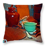 Chinese Kitchen Cookware Throw Pillow
