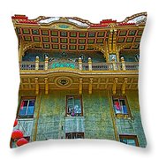 Chinese Lanterns In Chinatown In San Francisco-california  Throw Pillow