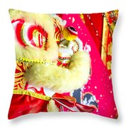 Chinese Lion Head Throw Pillow