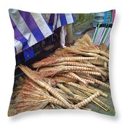 Chinese Market 3 Throw Pillow