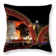 Chinese New Year 2012 Dragon Sculpture Decoration Panorama Throw Pillow