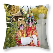 Chinese Opera Children - Traditional Chinese Opera Costumes. Throw Pillow