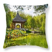 Chinese Pagoda Throw Pillow