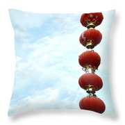Chinese Red Lampion  Throw Pillow