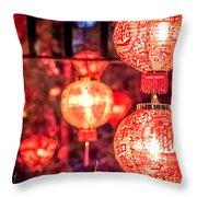 Chinese Red Lantern Throw Pillow
