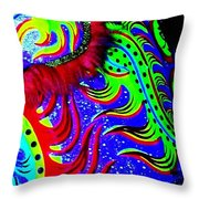 Chinese Tapestry Abstract Throw Pillow