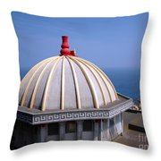 Chinese Temple Overlooking The Sea Throw Pillow