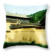 Chinese Temple Throw Pillow
