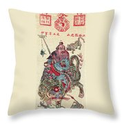 Chinese Wiseman Throw Pillow