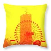 Chinese Wonder Wheel Throw Pillow