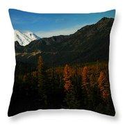 Chinnock Pass From Masatchee Falls Throw Pillow