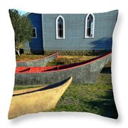 Chinook Canoes Throw Pillow