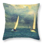 Chios Throw Pillow by Taylan Apukovska