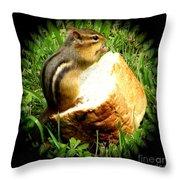 Chipmunk Saying Grace Throw Pillow