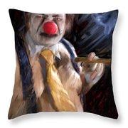 Chippy The Clown Throw Pillow