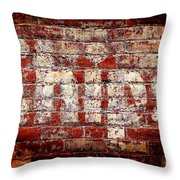 Chips Brick Wall Throw Pillow